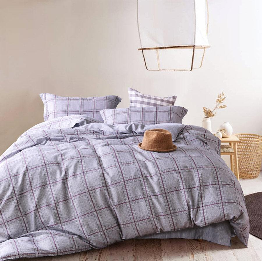 Boy plaid bedding - Geometric Plaid Bedding Sets Adult Teen Man Boy Full Queen King Trending Double Home Textiles Bed Sheet Pillow Cases Duvet Cover