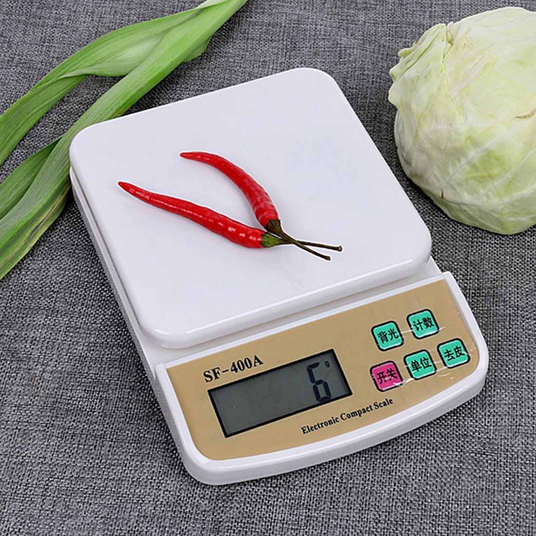 1pcs kitchen foods Scale Mini Digital Electronic scales Pocket 10Kg/1g Kitchen Weighing Scale LCD Display Backlight Scales
