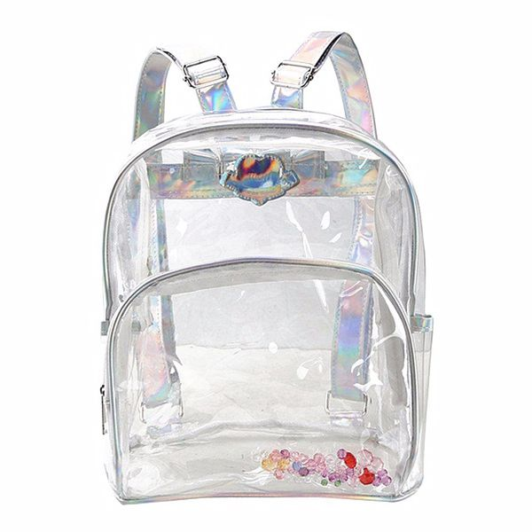 c8dc7fe663 Fashion Girl Mini Clear Transparent Backpack Satchel Laser Shoulder Bag  Rucksack