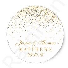Personalised Wedding Product Label Stickers Custom Logo Stic