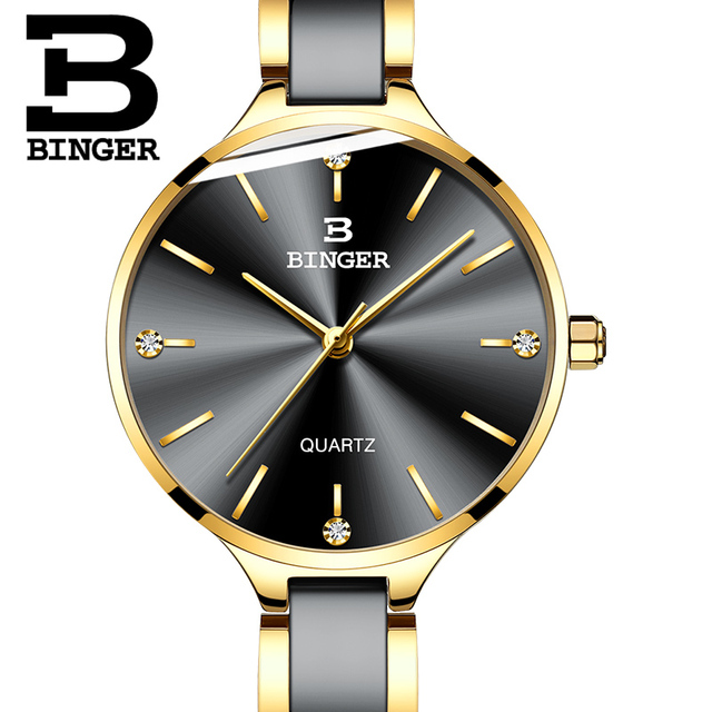 Zegarek damski Switzerland BINGER Fashion Women Watch Luxury Brand Bracelets Ceramic Watch band Sapphire Waterproof Montre femme 2