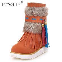 Lsewilly/ботильоны Для женщин Ботинки плоский каблук черные женские Обувь бисером плюшевые замши нубука зимние ботинки теплые женские зимние сапоги с кисточками AA554