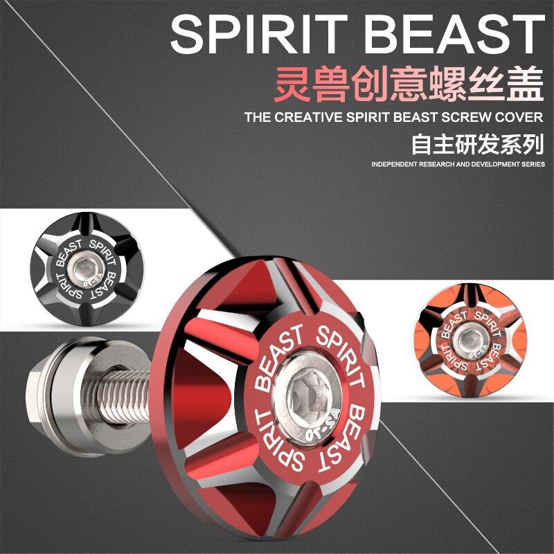 SPIRIT BEAST Motocyklové šroubové víko modifikované příslušenství koloběžka ozdobná šroubová hliníková slitina poznávací značka šroubovák