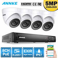 ANNKE 8CH HD 5MP POE Netzwerk Video Security System 8MP H.265 + NVR Mit 4X5 megapixel 30m EXIR Nacht Vision Wetter WIFI IP Kamera