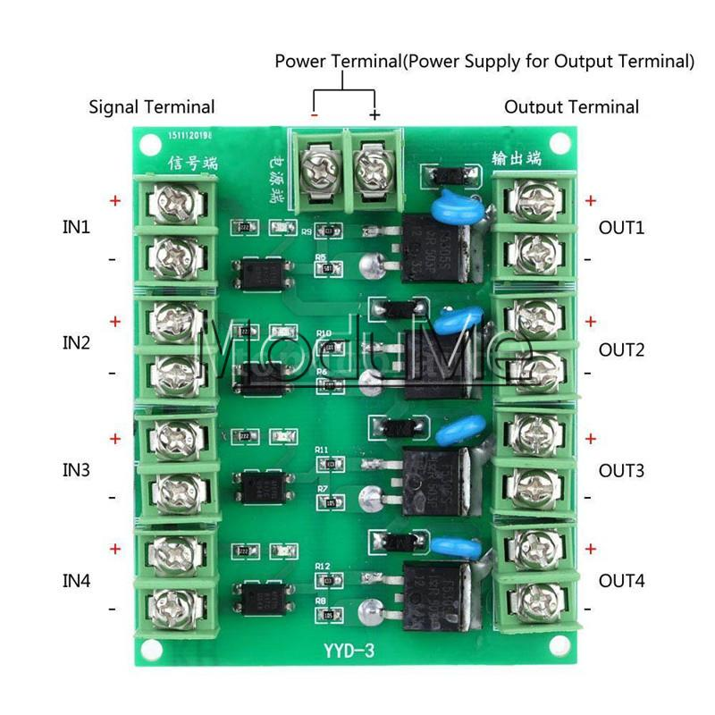 Mos Fet 4 Channels Pulse Trigger Switch Controller Pwm Input Steady For Motor Led Integrated Circuits Active Components