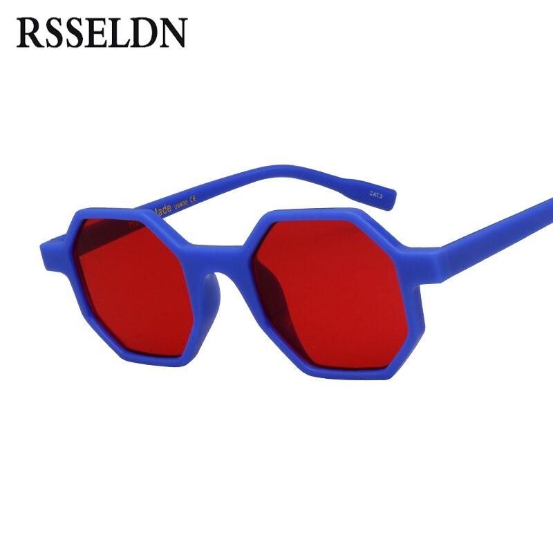 RSSELDN Small Octagon Sunglasses Women Brand Designer 2018 Vintage Polygon Black Brown Red Sun glasses Female Male Shades UV400