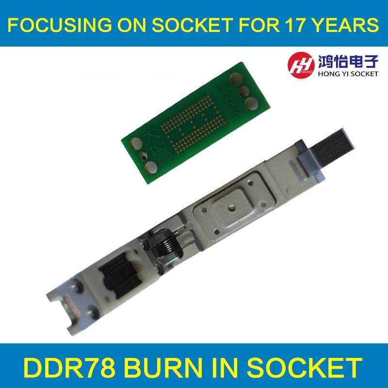 DDR2 3 4 Memory Chip Test Socket 8 Bit /16 Bit Universal Socket 78/96 Ball Pin Pitch 0.8mm Pogo Pin Wholesale
