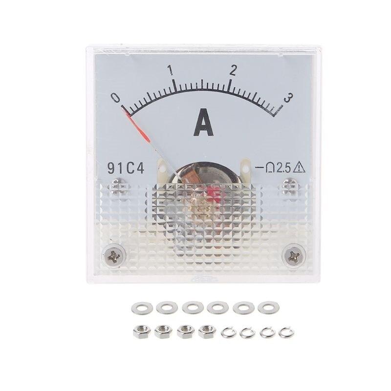 91C4 амперметр DC аналоговая панель измерителя тока Механическая указка тип 1/2/3/5/10/20/30/50/100/200/300/500 мА A