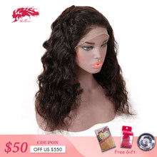 Ali Queen Hair Loose Wave Full Lace Human Hair Wigs Free Part 130% Density Pre Plucked Remy Hair Lace Wig(China)
