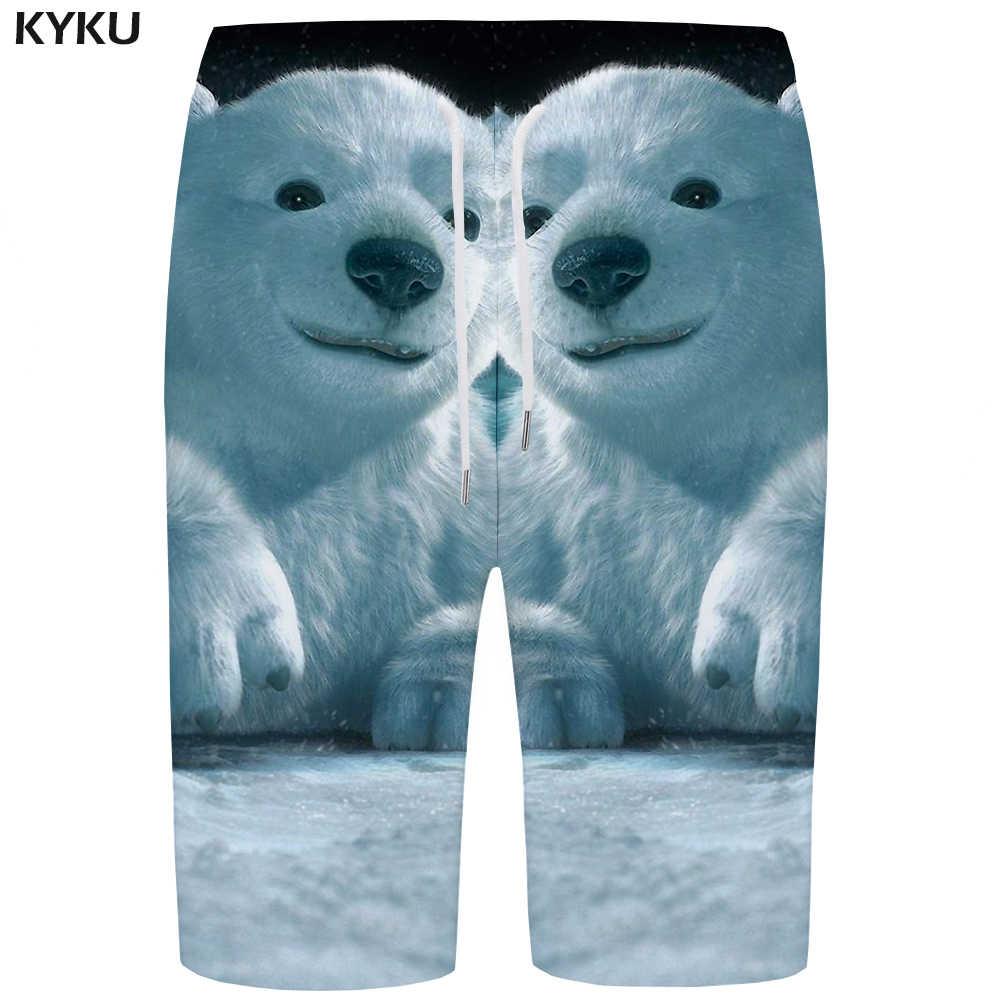 70c849a7f1 Detail Feedback Questions about KYKU Bear Board Shorts Men White ...