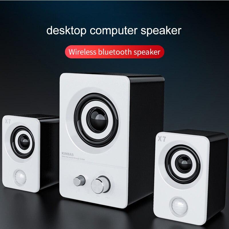 Desktop Computer Bluetooth Speaker Portable Sound System Waterproof USB Speakers Music Surround Loudspeaker For PC Laptop