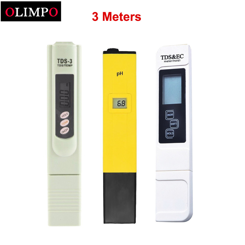 olimpo 3 meter in one lot digital tds meter ph meter ec meter pocket pen aquarium filter. Black Bedroom Furniture Sets. Home Design Ideas