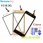 Vecmnoday For Huawei Y3 II LUA-L03 LUA-L21 New Black White Gold Touch Screen Digitizer Glass Panel +tools