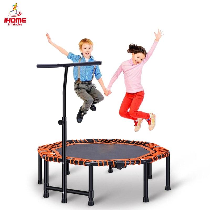 2020 48 cal czteroosobowy składane trampoliny siłownia ośmioboczna trampolina dla dorosłych dzieci skok sport z regulowaną poręczą