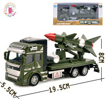 Childrens 1:48 Alloy ABS Military Model Simulation Vehicle Battle Rocket Transport Missile Diecasting Birthday Gift Toy Set