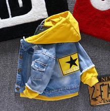 Jongen meisje Denim Jassen kinderen jeans jas Kinderen splice Bovenkleding kleding Lente Herfst jongen hooded sport Kleding Voor 1  6 T kids