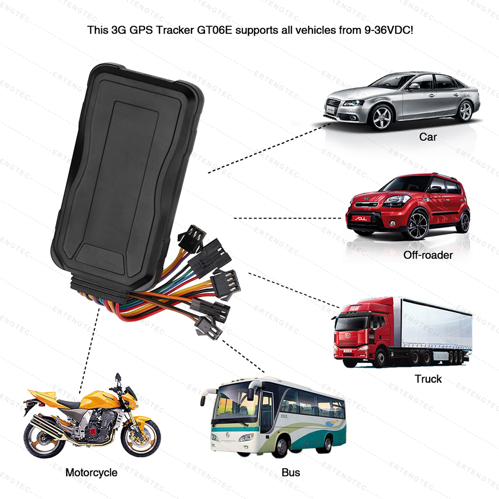 GPS 3G Tracker Car Vehicle Tracking WCDMA GPS Locator GT06E Door Detection GPS LBS Locating Real Time Tracking SOS Voice monitor mini portable gps locator real time tracker sos communicator with lanyard for car person