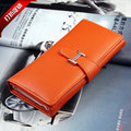 NEW women leather money clip wallet patchwork credit card purse long female cash holder high quality wallets money clip