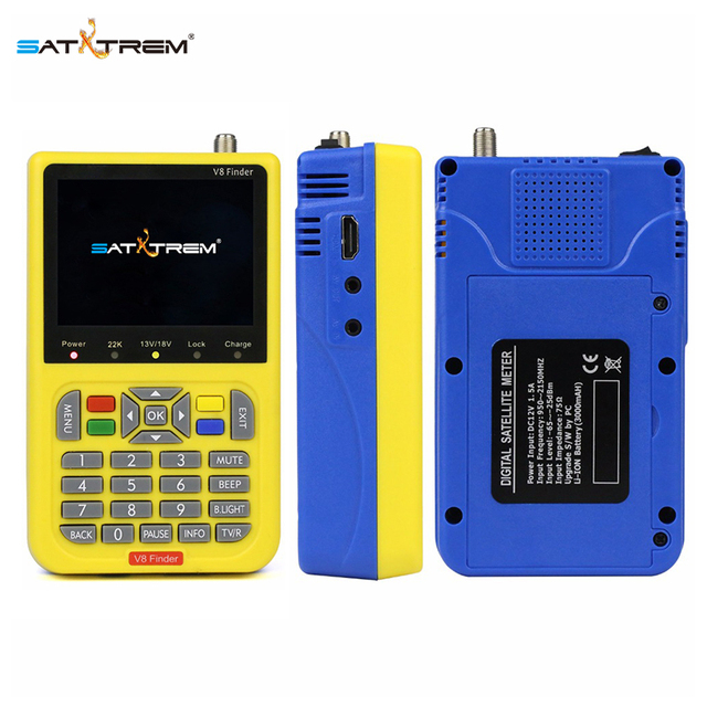 Satxtrem DVB-S2 V8 Finder HD Digital Satellite Finder 3.5 inch LCD Display MPEG-4 Satfinder V8 Finder