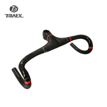 купить TMAEX-PRO  Super light Full Carbon Integrated Road Bicycle Handlebar Road Carbon Handlebar With Stem Cycling Bike Parts  275G дешево