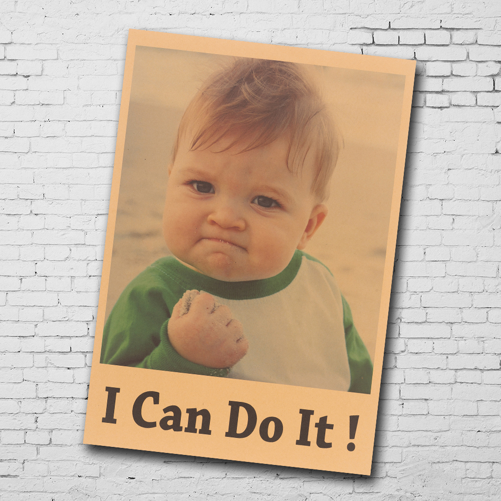 Kraft Stiker Dinding Aku Bisa Inspirational Lucu Anak Kecil