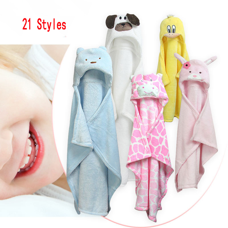 Children Soft Robes Boys Girls Flannel Animal Cloak Baby Cape Soft And Lovely With Cap Cartoon Animals Comfortable Baby Cape