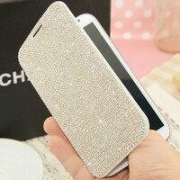 Luksusowe Bling Diamentowa Portfel Klapki Skórzane Etui Dla iPhone X 8 7 6 S Plus 5S Samsung Galaxy S6 Krawędzi Plus S5 S7 S8/4/3 Uwaga 8 5 4 3