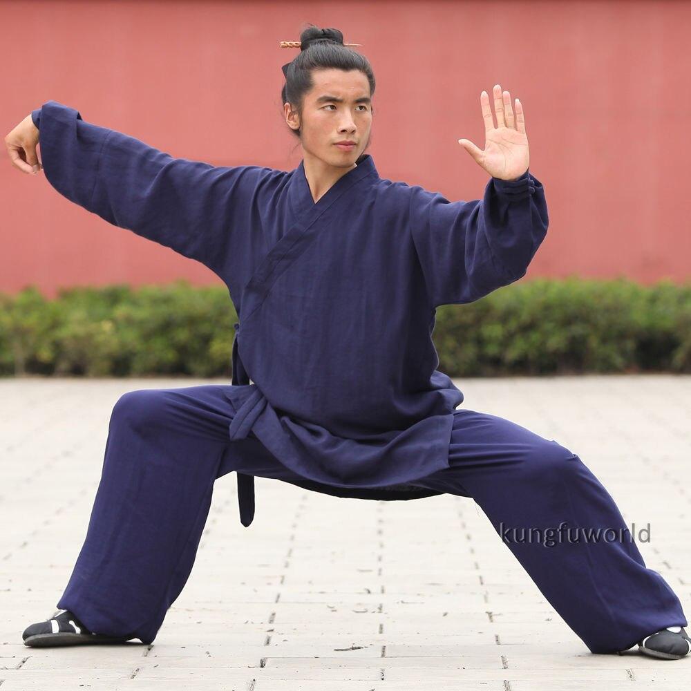 Высококачественная льняная форма для боевых искусств уданский даосский халат Стиль Тай Чи Униформа Единоборства кунг-фу костюм