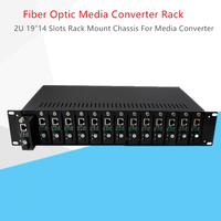 Media Converter Rack 2U 19″14 Slots Rack Mount Chassis For Fiber Optical Media Converter