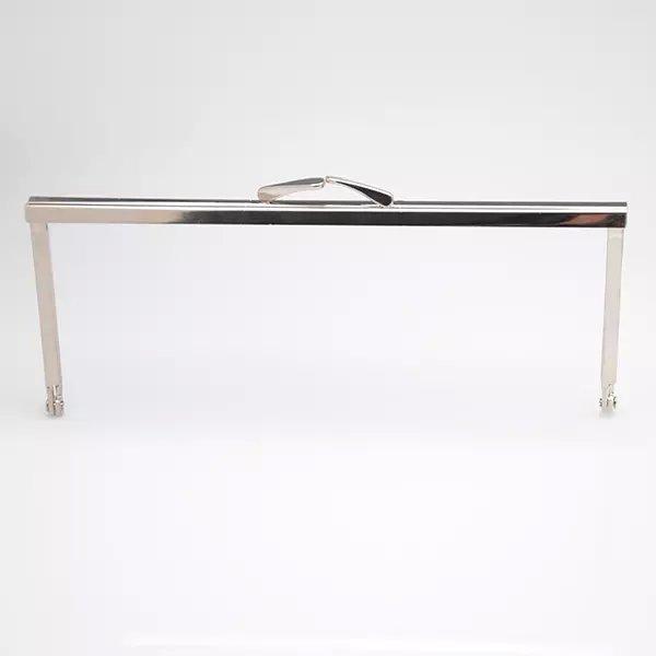 8  x 2.5 NICKEL Metal purse frames open-channels, handbag handles