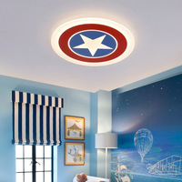 Captain America LED Ceiling Light Kids Child Lamps for bedoom study room acrylic lamp lamparas de techo abajur light fixtures