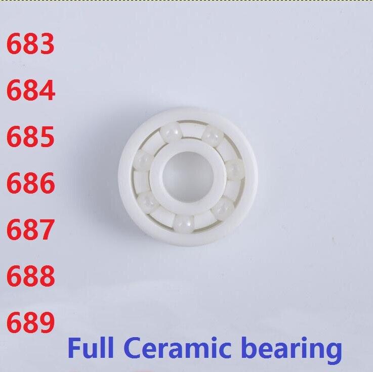 4 pièces/10 pièces 683 684 685 686 687 688 689 ZrO2 roulements à billes En Céramique Miniature roulement à billes en céramique De Zircone haute