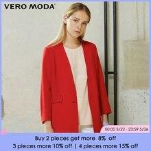 Vero Moda Brand straight solid color trench coat V-Neck single breasted three qu