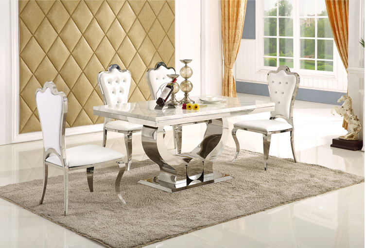 €863.45 5% de DESCUENTO De madera maciza comedor muebles para el hogar  moderno minimalista mármol mesa de comedor y 6 sillas mesa de jantar  muebles ...