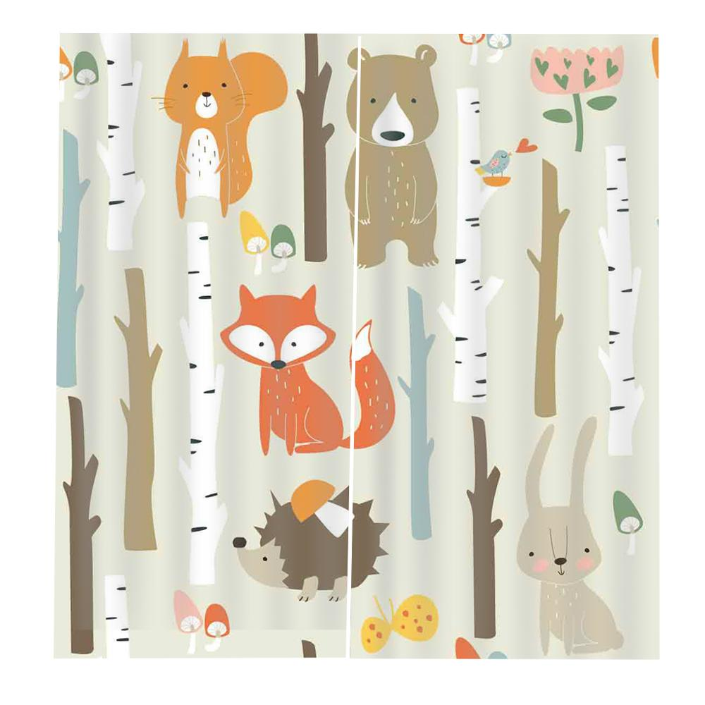 cartoon cat curtains for kids room Curtain office Bedroom 3D Window Curtain Luxury living room decorate Cortina in Curtains from Home Garden