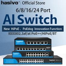Commutateur Ethernet PoE, 4 ports, 8 ports et 16 ports, pour prise en charge VLAN (250M), pour caméra ip, AP