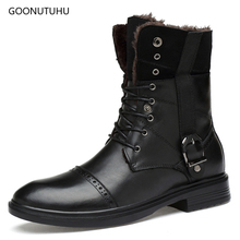 2019 autumn winter men's ankle boots tactical military genuine leather boot shoe man big size work shoes male snow boots for men vancat 2018 new genuine leather men snow boots autumn winter outdoor working man ankle boot men s work shoes plus size 38 47