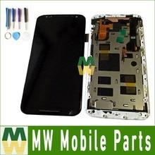 Para Motorola Moto X2 XT1092 XT1095 XT1097 Pantalla LCD + Pantalla táctil Digitalizador con marco de Color Blanco y Negro con herramientas