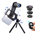 8X Lente Zoom Telefoto Lentes Telescópio Microscópio Macro Com Clipe tripé lentes grande angular olho de peixe para iphone 6 7 xiaomi huawei