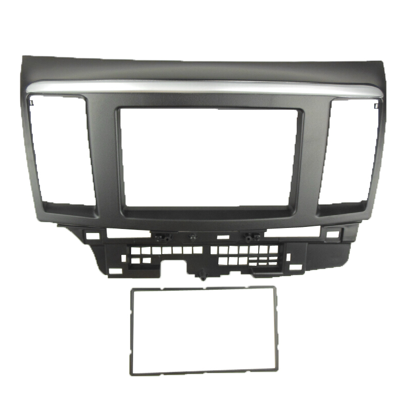 Double Din fascia for MITSUBISHI LANCER FORTIS Radio DVD Stereo Panel Dash Mounting Installation Trim Kit Face Frame 2 din car dvd frame dashboard kits front bezel radio frame adaper dvd cover dash trim kit for kia rio 5 door rhd double din
