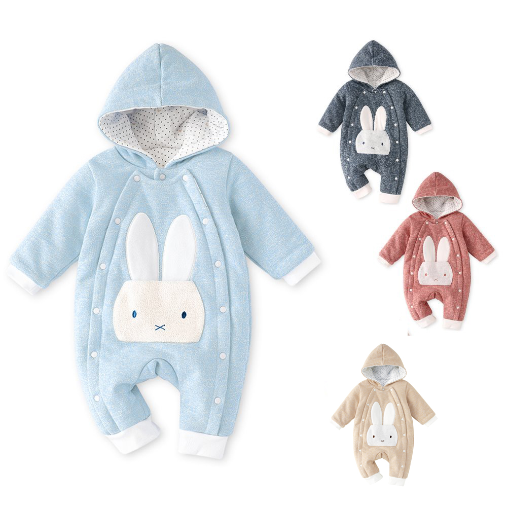 pureborn Infant Coveralls Cartoon Cat Baby Thicken Romper Boys Girls Winter Snowsuit Playsuit Outfit
