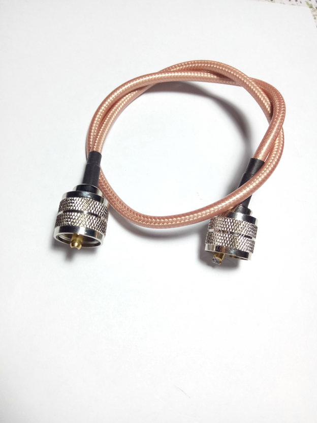 10 pcs UHF male to male PL259 plug pigtail cable RG142 50cm