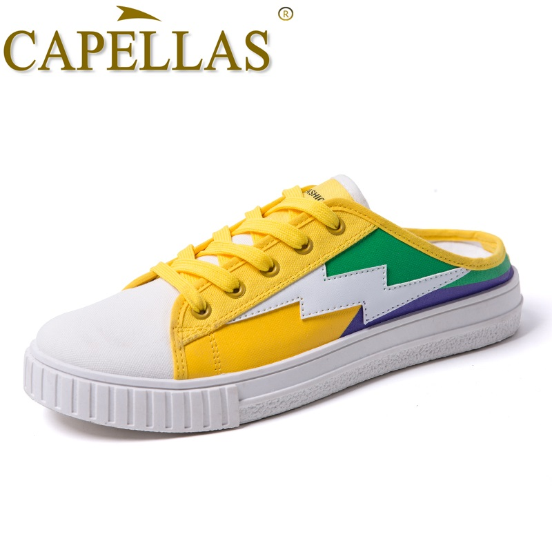 CAPELLAS New Arrival Canvas Skor Män Casual Skor Bekväma Lace Up - Herrskor