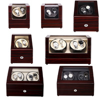Красное дерево лак сандаловое дерево Роскошные автоматические часы намотки коробки Полная Модель Slient японский механизм для брендовых часо