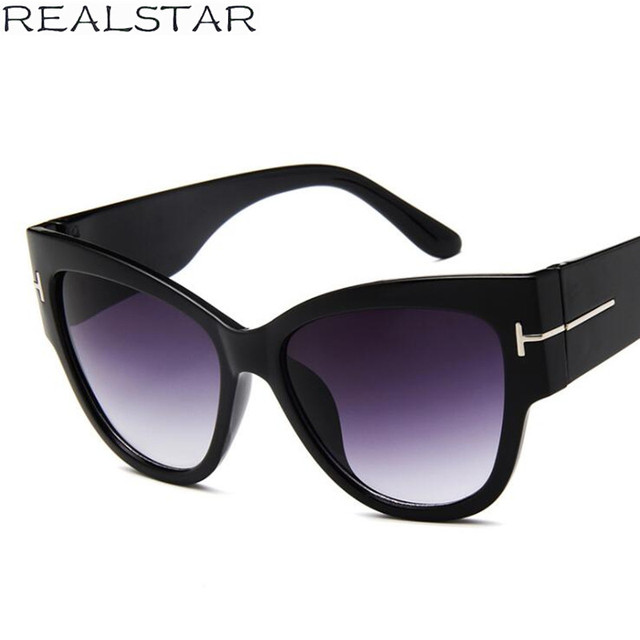 c9417120b5f8 REALSTAR Cat Eye Cheap Sunglasses Women 2018 Fashion Eyewear Womens Luxury  Italy Brand Designer Sun Glasses Retro Shades S318