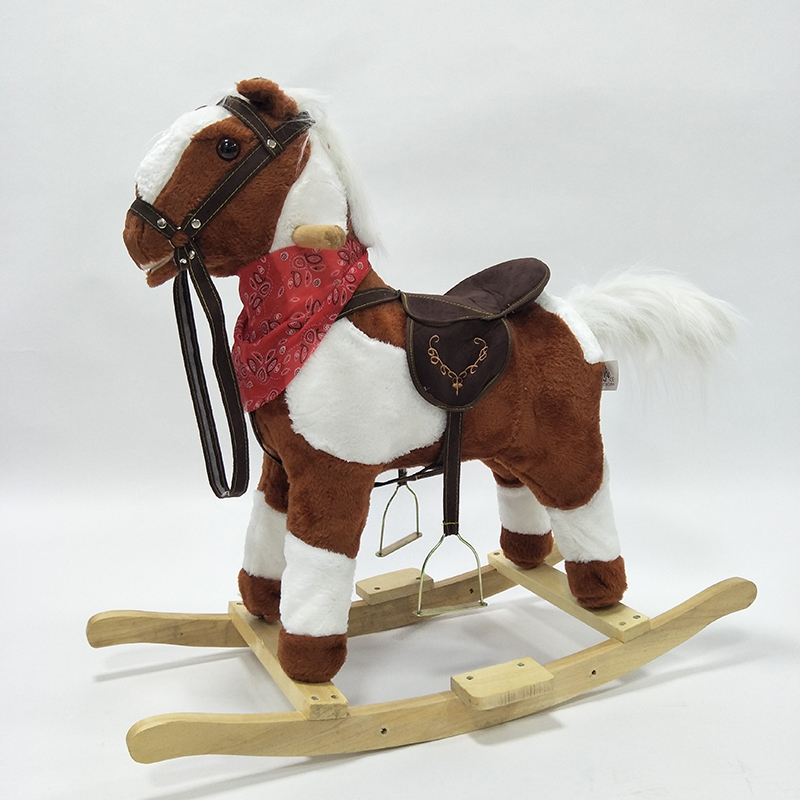 New Styles Outdoor Indoor Wooden Ride on Animal Horse Toys Amusement Moving Rocking Horse Pony for 3-8 Y Boy Girl Children Gifts