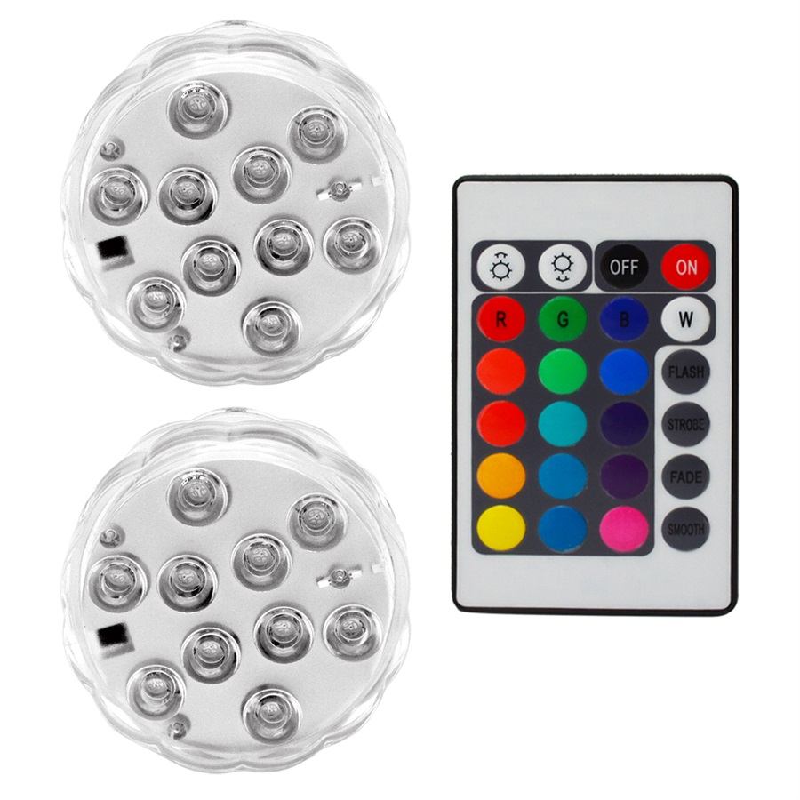 10w Rgb Led Underwater Light Pond Submersible Waterproof Swimming Pool Aquarium Light Remote For Wedding Party Led Underwater Lights