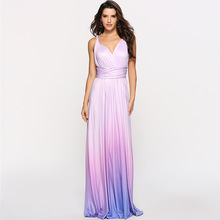 Sexy Dress Multiway Wrap Convertible Bohemian Maxi Club Gradient Bandage Long Party Bridesmaids Infinity Robe Longue