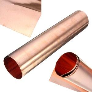 Image 2 - 1Pc 99.9% ทองแดงบริสุทธิ์ทองแดงแผ่นโลหะบางฟอยล์ม้วน0.1มม.* 100มม.* 100มม.