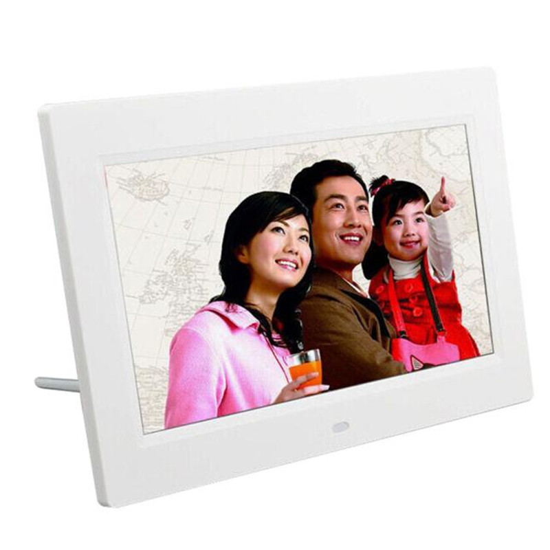 7inch HD LCD Digital Photo Frame with Alarm Clock Slideshow MP34 Player gift wholesale F20